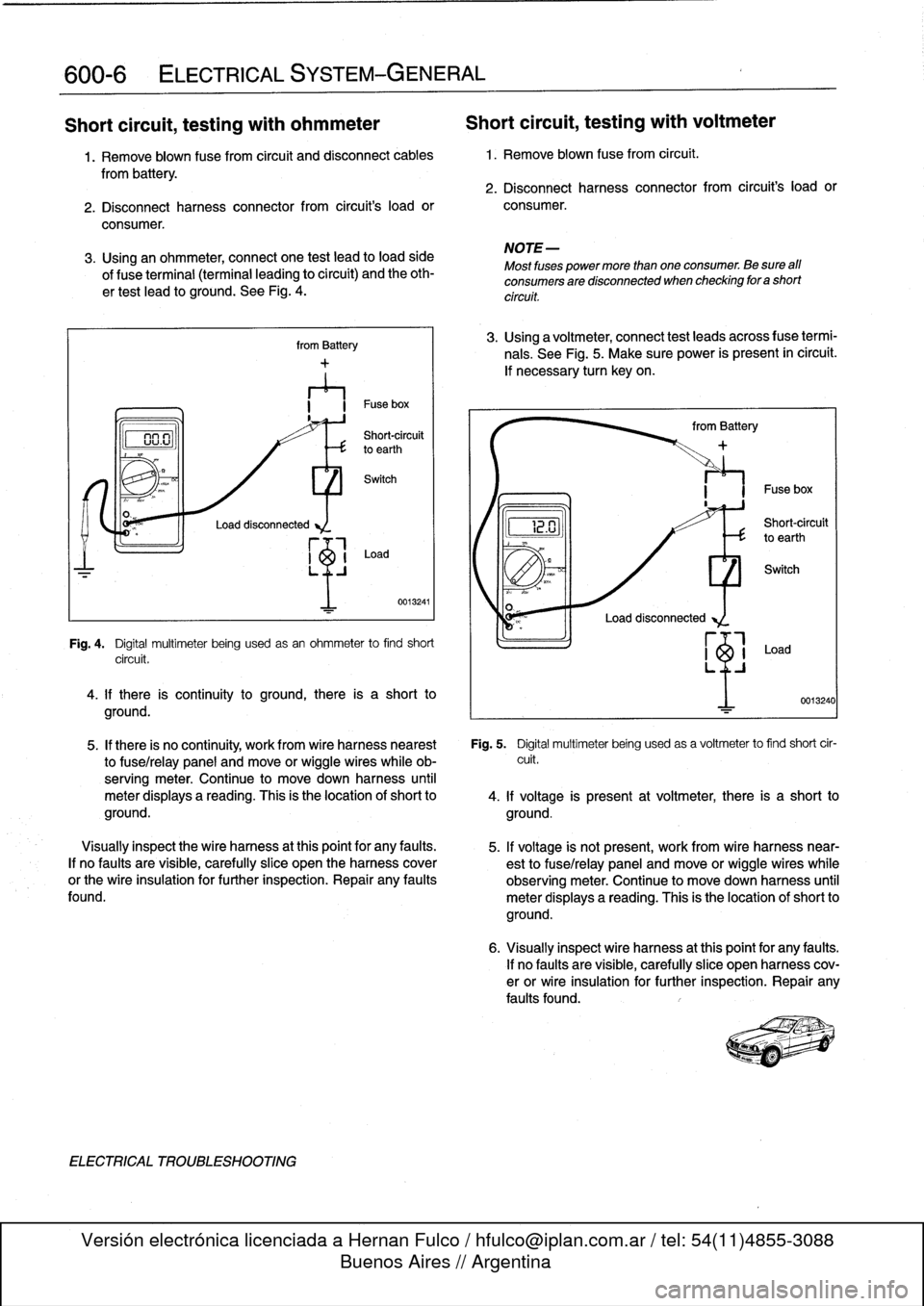 Fuses Bmw 325i 1992 E36 Workshop Manual Fuse Box Page 386