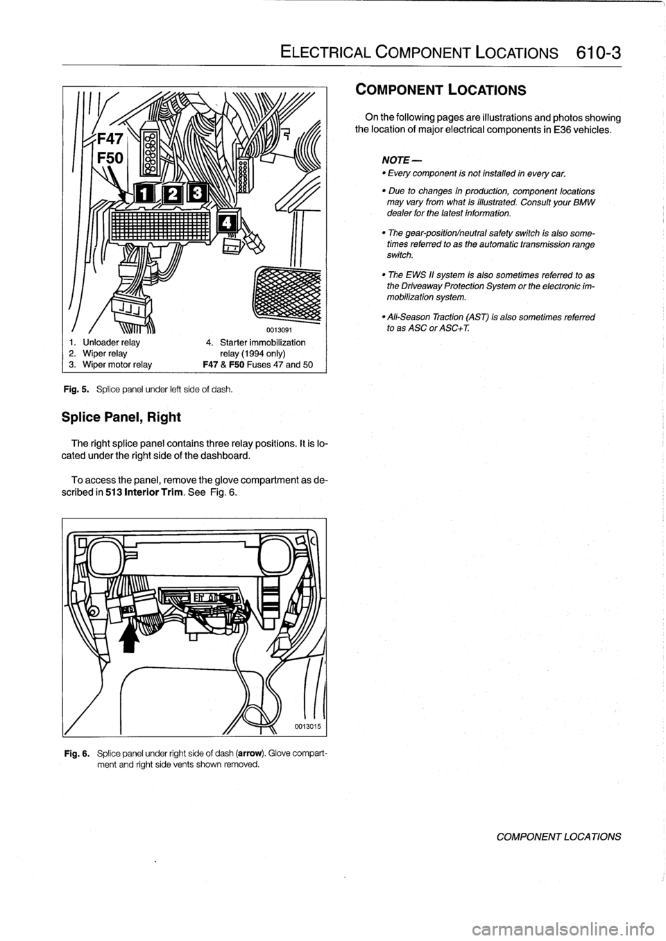 Fuses Bmw 325i 1992 E36 Workshop Manual Fuse Box Page 389