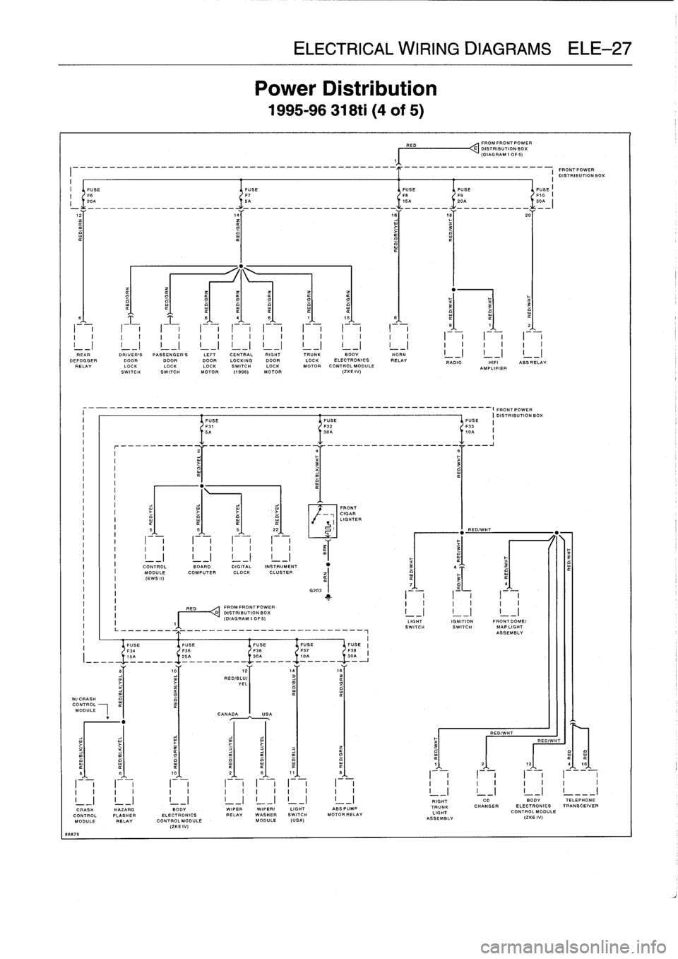 E36 Zke Wiring Diagram Bmw 1996 323i Workshop Manual