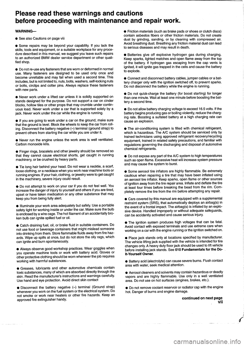 BMW 323i 1993 E36 Workshop Manual, Page 7