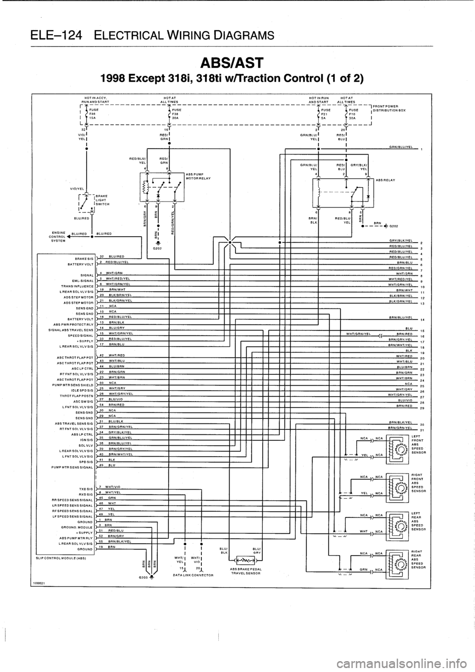 Traction Control Bmw 325i 1992 E36 Workshop Manual Ih 606 Wiring Diagram Page 607 Ele 124 Electrical Diagrams