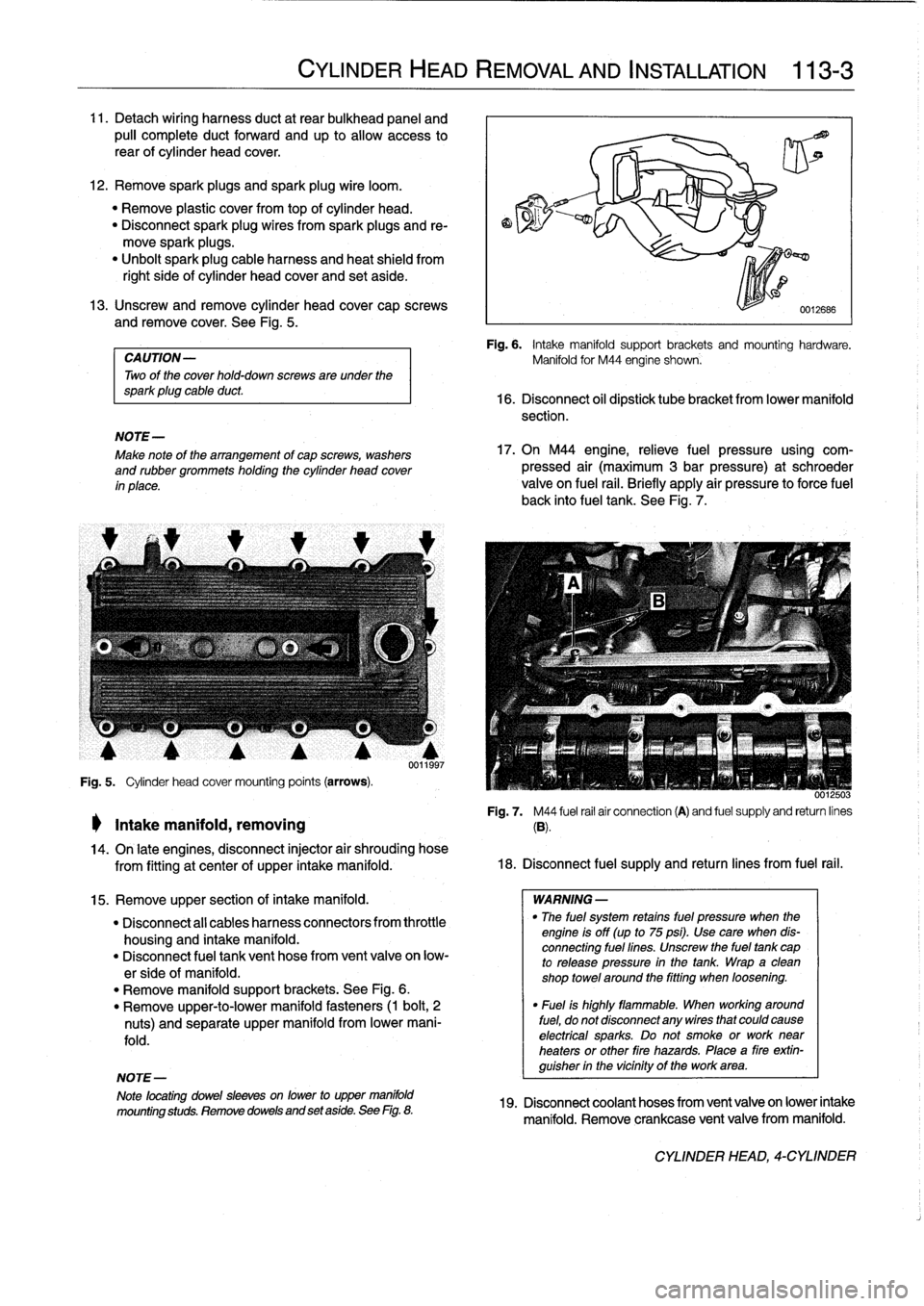 Bmw 328i 1992 E36 Workshop Manual Wire Harness 1997 Page 69 11 Detach Wiring