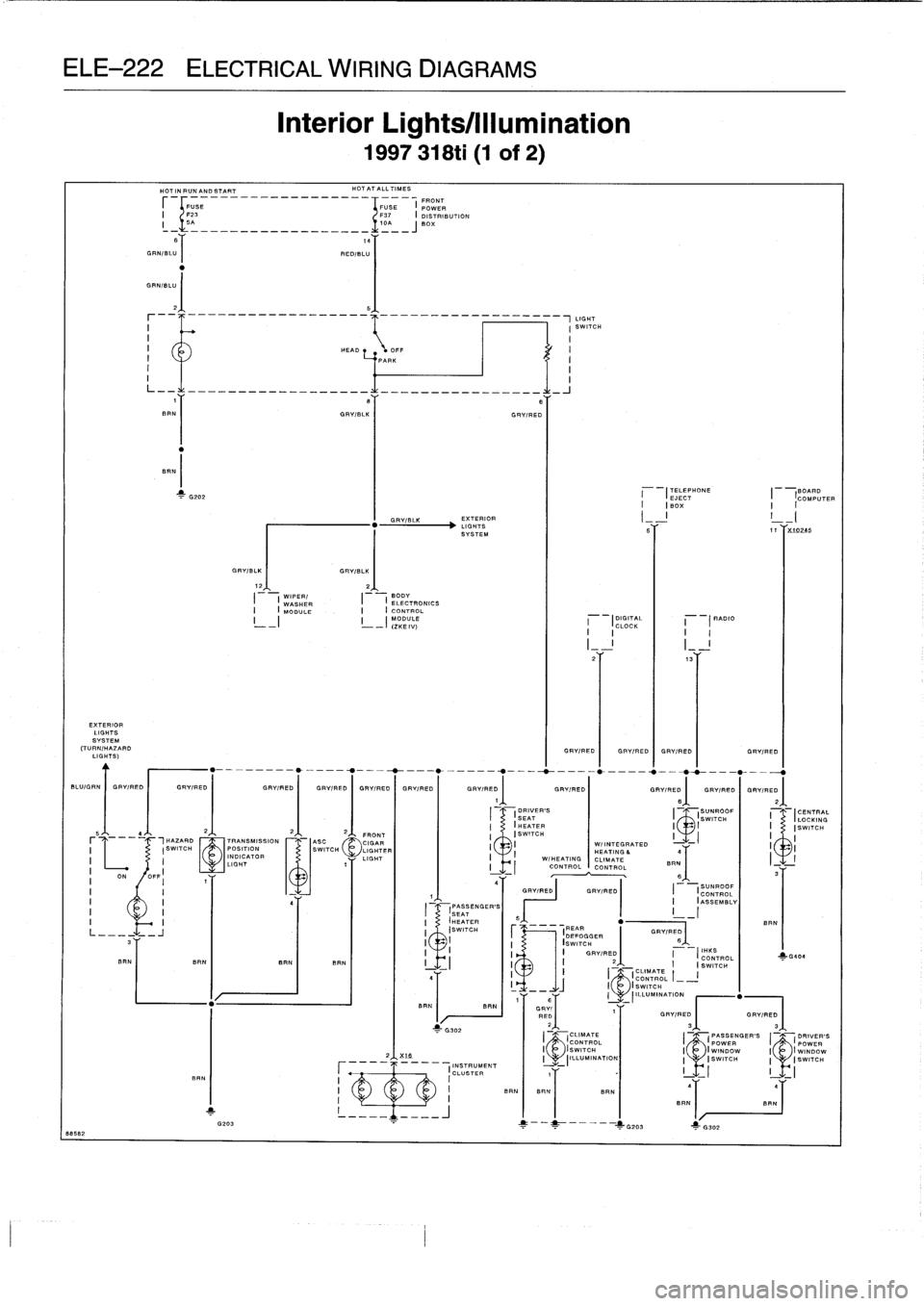 Bmw 328i 1995 E36 Workshop Manual Wiring Diagram Power Windows