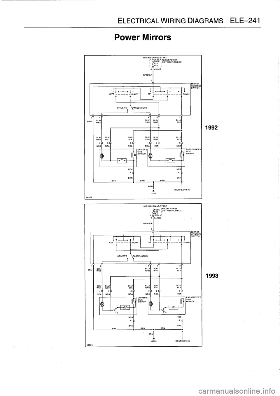 Bmw M3 1995 E36 Workshop Manual Mirror Wiring Diagram
