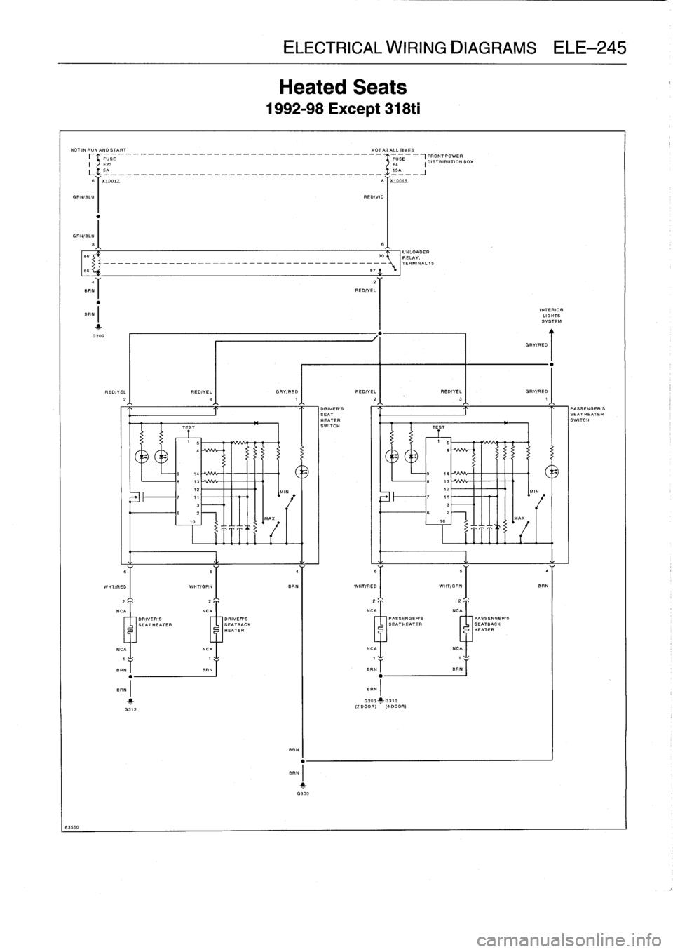 Bmw M3 1995 E36 Workshop Manual Mirror Wiring Diagram Page 728 83550 Electrical