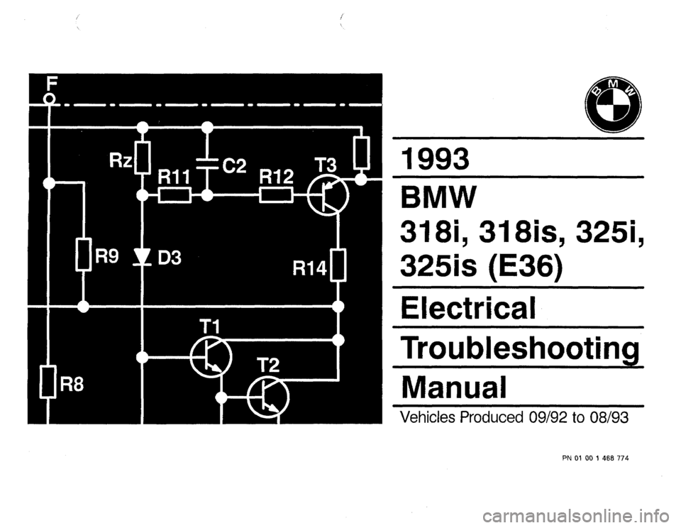 BMW 325is 1993 E36 Electrical Troubleshooting Manual, Page 1
