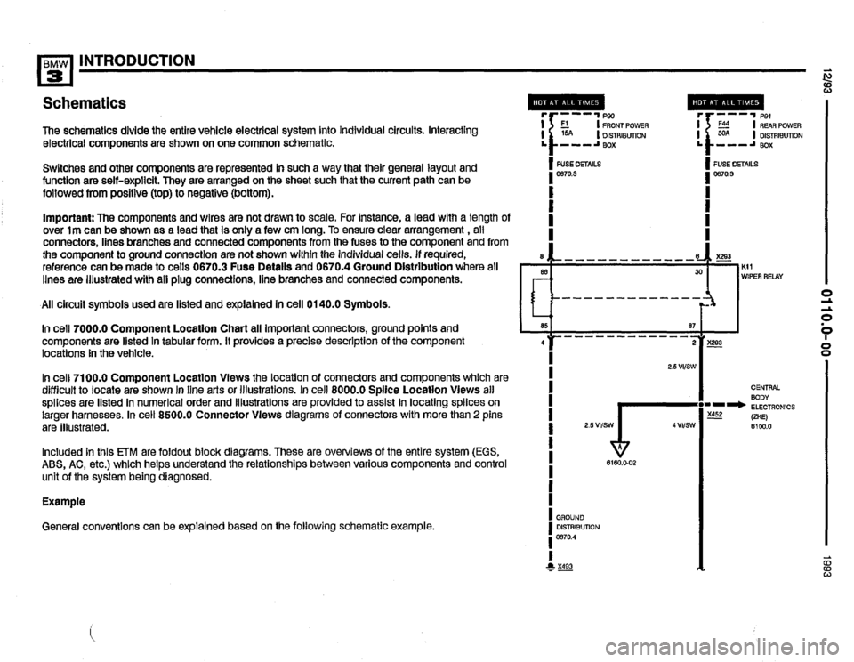 BMW 325is 1993 E36 Electrical Troubleshooting Manual, Page 10