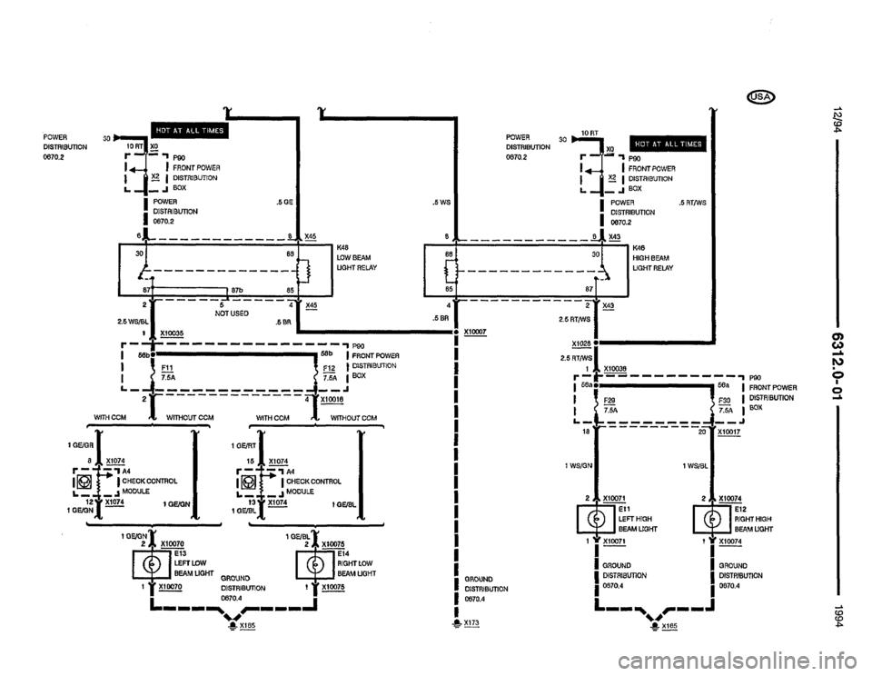 bmw 325i 1994 e36 electrical troubleshooting manual  435