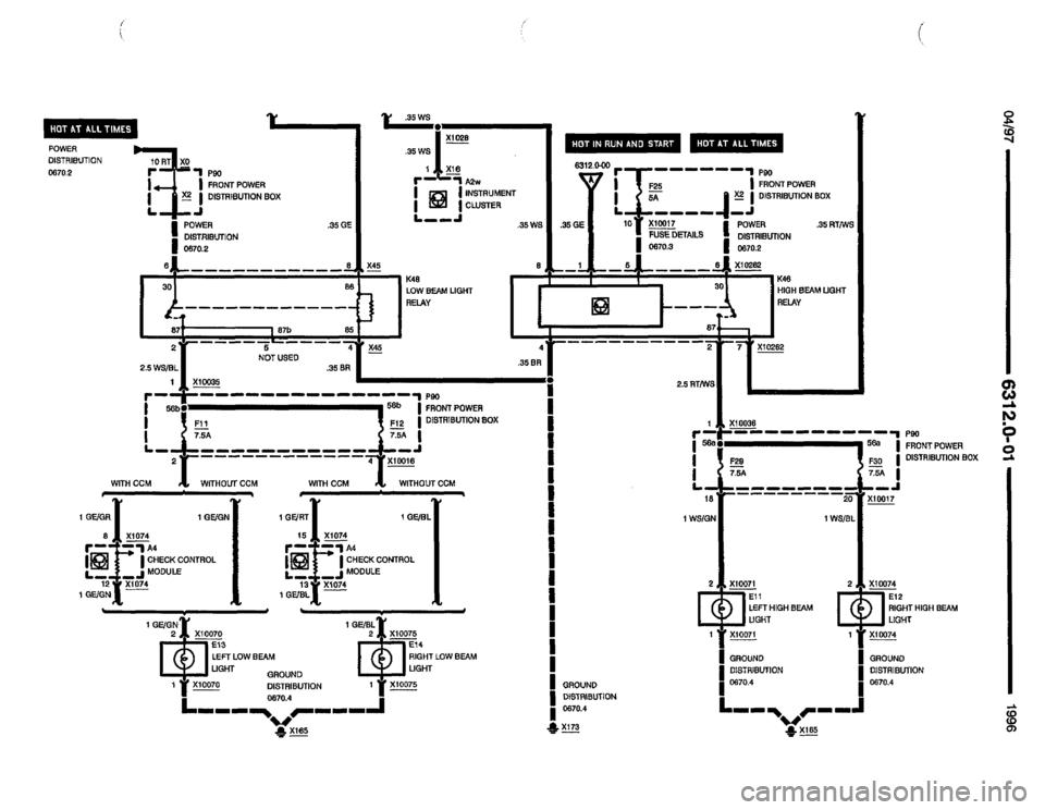bmw 320i 1996 e36 electrical troubleshooting manual  502