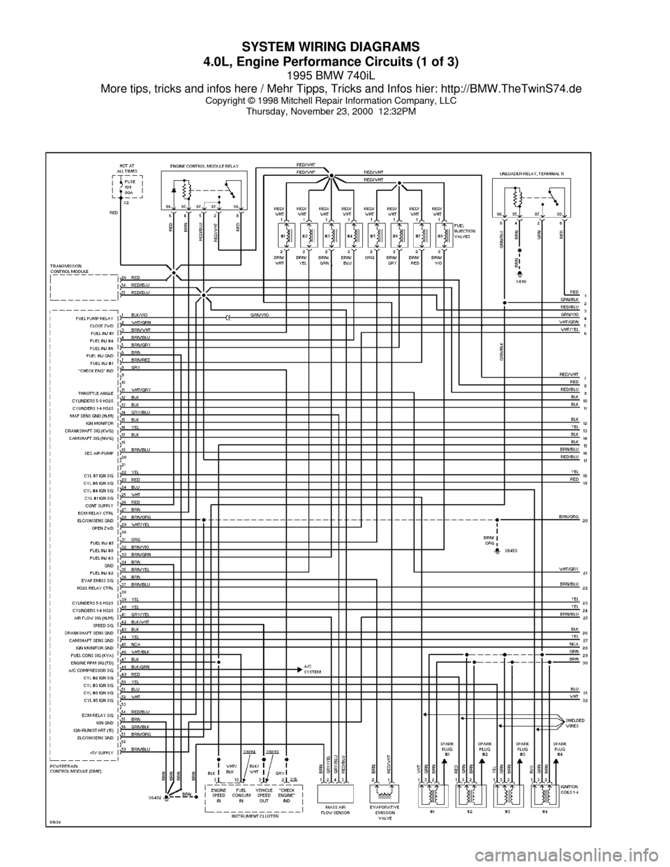 bmw 740il 1995 e38 system wiring diagrams 1996 bmw 328i wiring diagram