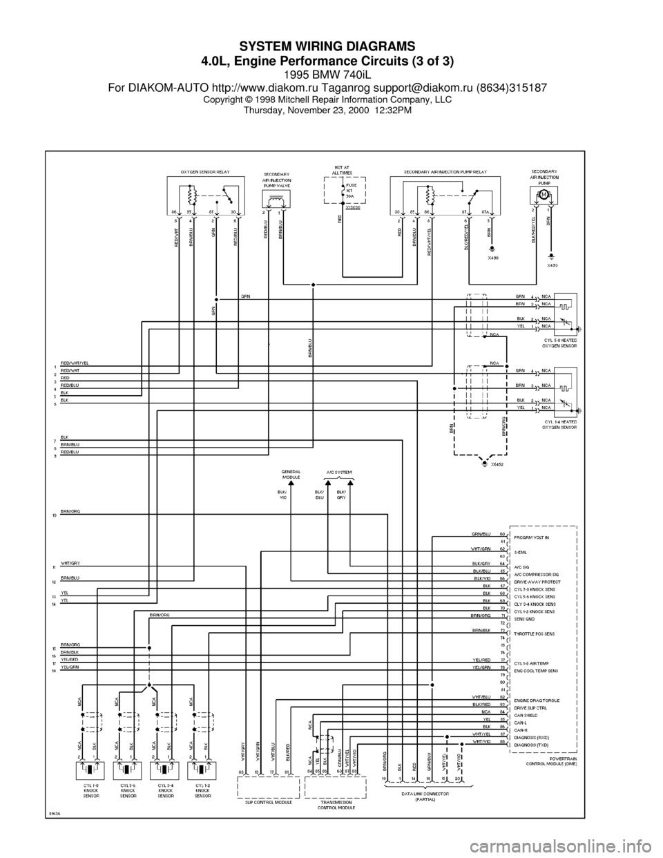W on bmw e38 radio wiring diagram
