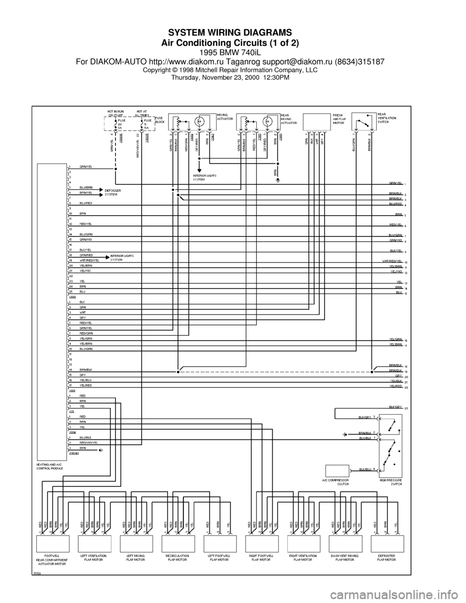 [SCHEMATICS_49CH]  BMW 740il 1995 E38 System Wiring Diagrams (60 Pages) | 1998 Bmw 740i Wiring Diagram |  | Car Manuals Online