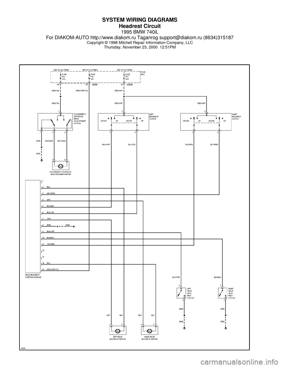 Bmw E38 Wiring Diagram Pdf : Bmw il e system wiring diagrams