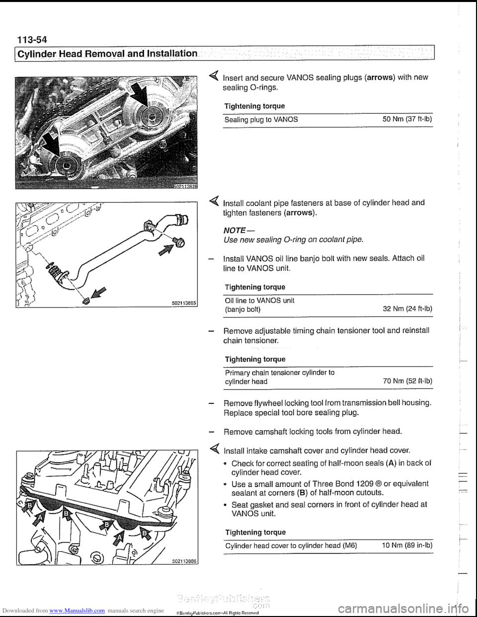 Engine Coolant Bmw 530i 2001 E39 Workshop Manual Diagram Page 148