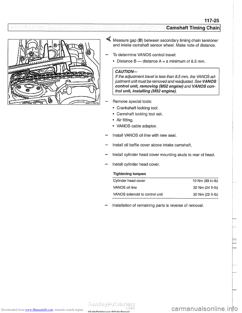 Bmw 540i 1999 E39 Workshop Manual 328i Timing Belt