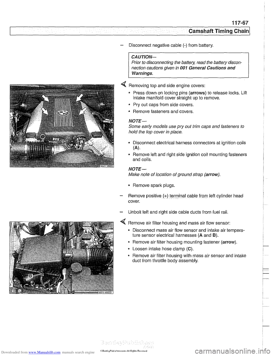 Battery Bmw 530i 2001 E39 Workshop Manual Engine Module Wiring Diagram Page 303