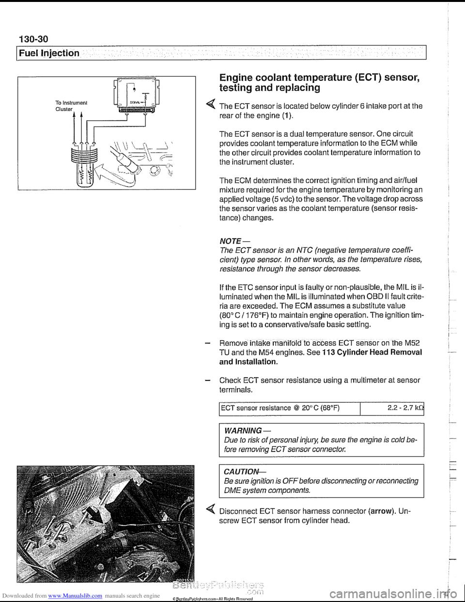 BMW 540i 1998 E39 Workshop Manual – Dme 540i Fuse Diagram