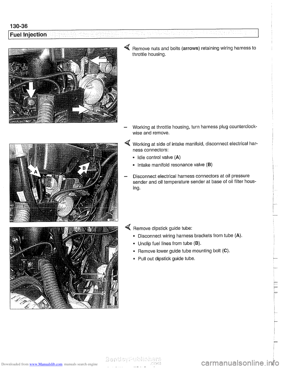Engine Bmw 528i 1998 E39 Workshop Manual Remove Wiring Harness Pins Page 426