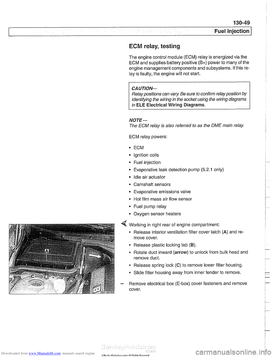 Bmw 528i 1997 E39 Workshop Manual Engine Diagram
