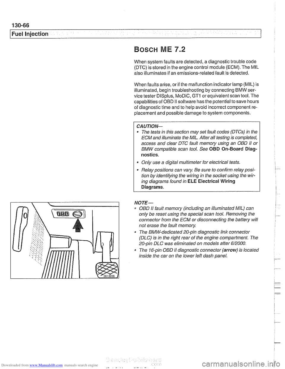 Battery Bmw 525i 1998 E39 Workshop Manual 530i Engine Module Wiring Diagram Page 456