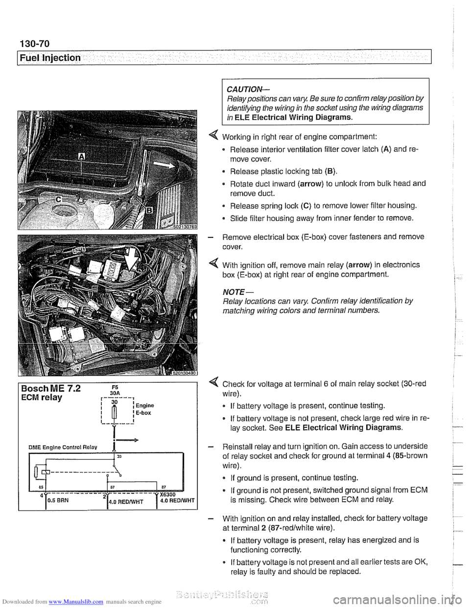 Bmw 525i 1999 E39 Workshop Manual Wiring Diagrams 525 Tds