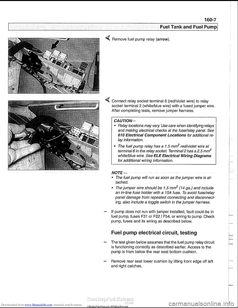Fuses Bmw 525i 2000 E39 Workshop Manual Fuel Pump Wire Diagram Page 477