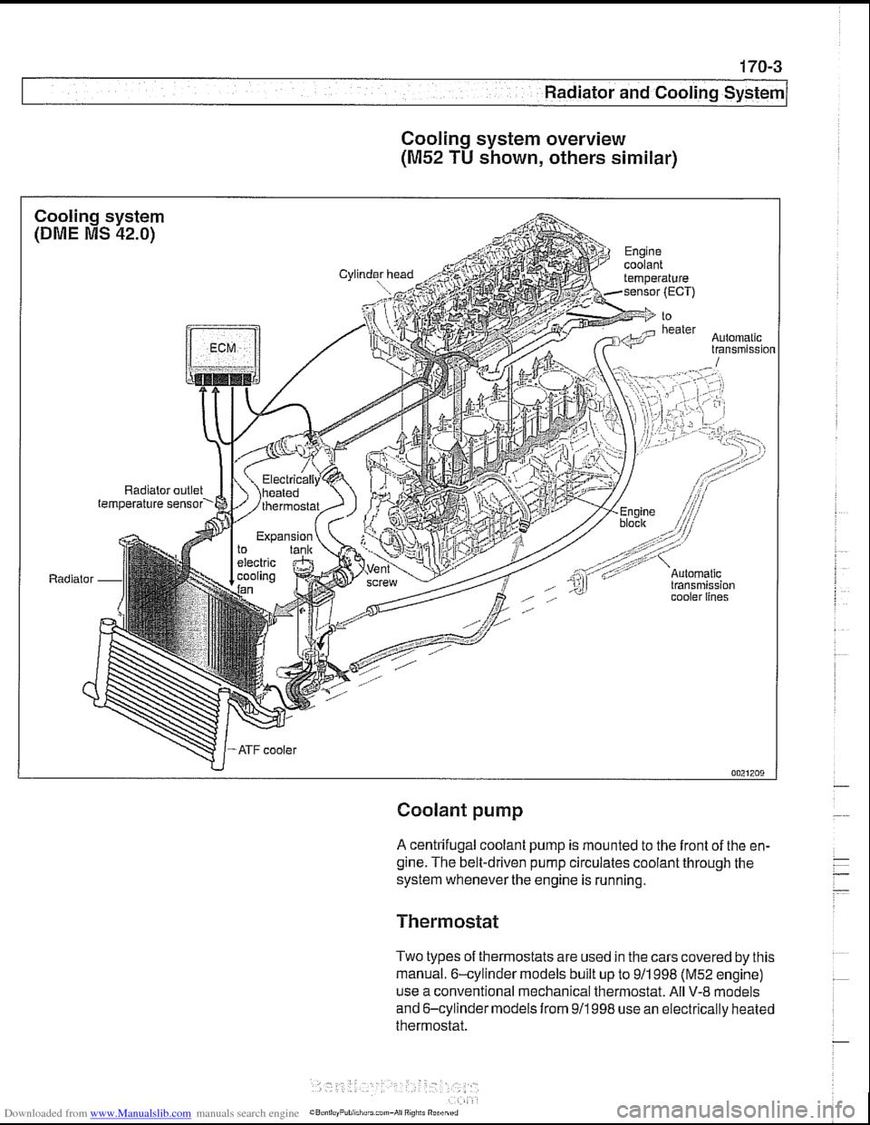 Engine Coolant Bmw 525i 2000 E39 Workshop Manual Expansion Tank