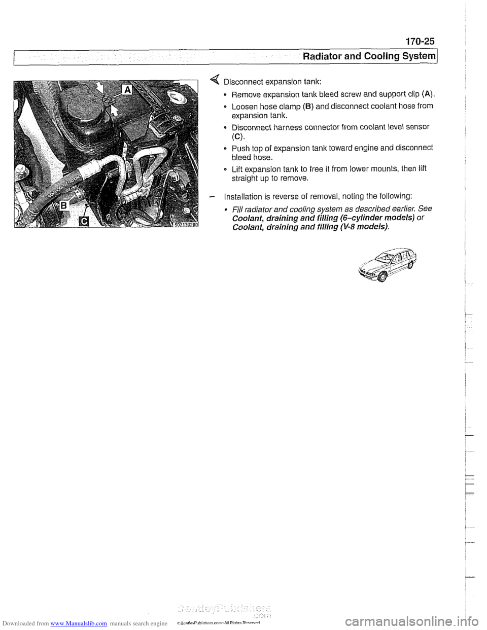 Engine Coolant Bmw 530i 2001 E39 Workshop Manual Module Wiring Diagram Page 521