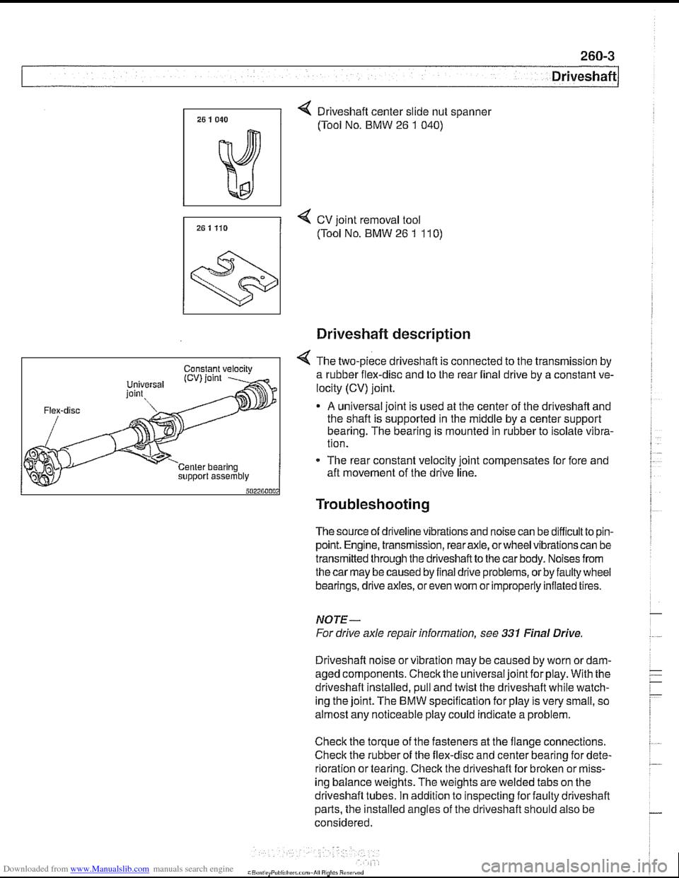 Bmw 540i 1997 E39 Engine Parts Diagram Workshop Manual Page 609