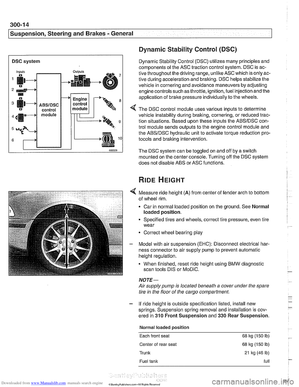 Traction Control Bmw 525i 2000 E39 Workshop Manual 530i Engine Module Wiring Diagram Page 634