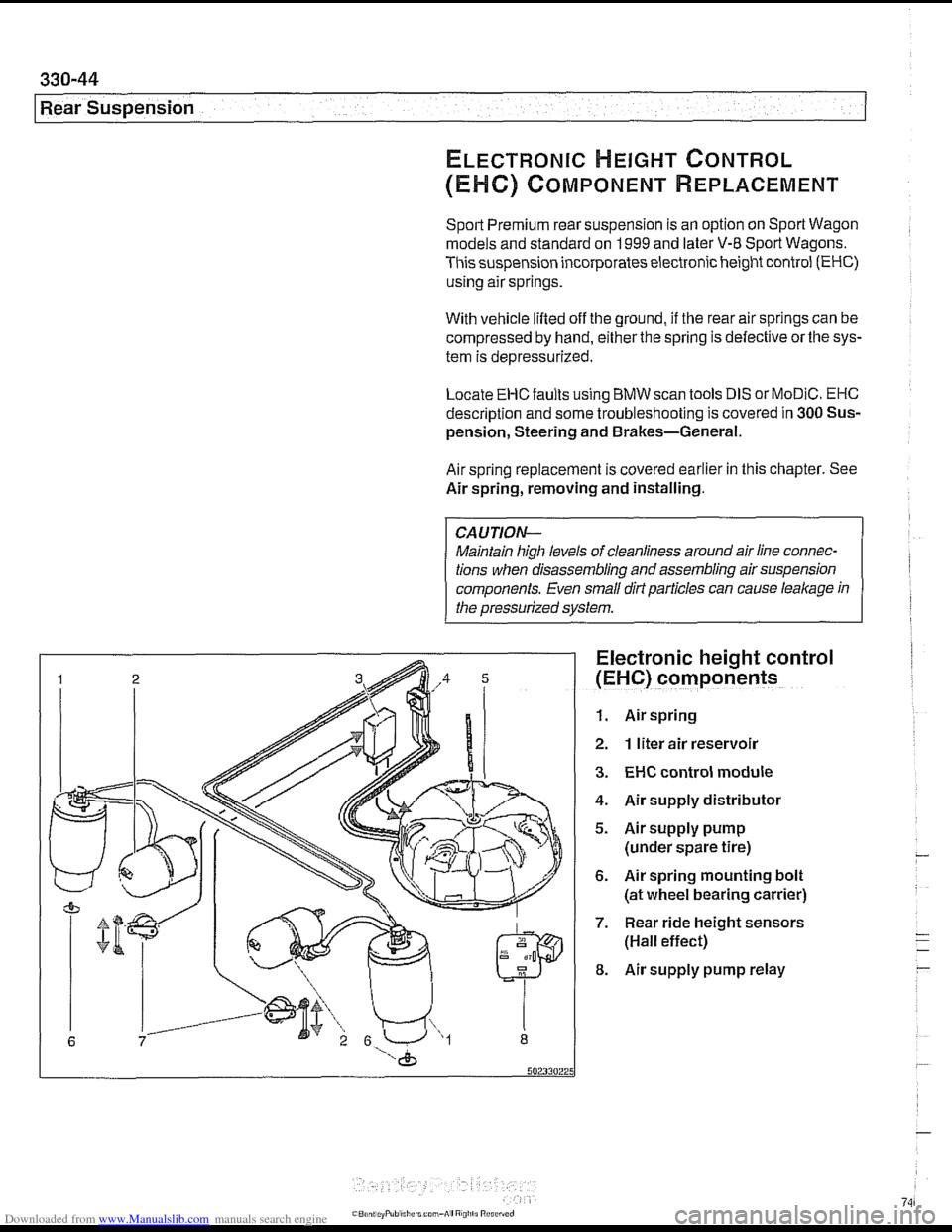 brake sensor BMW 540i 2000 E39 Workshop Manual