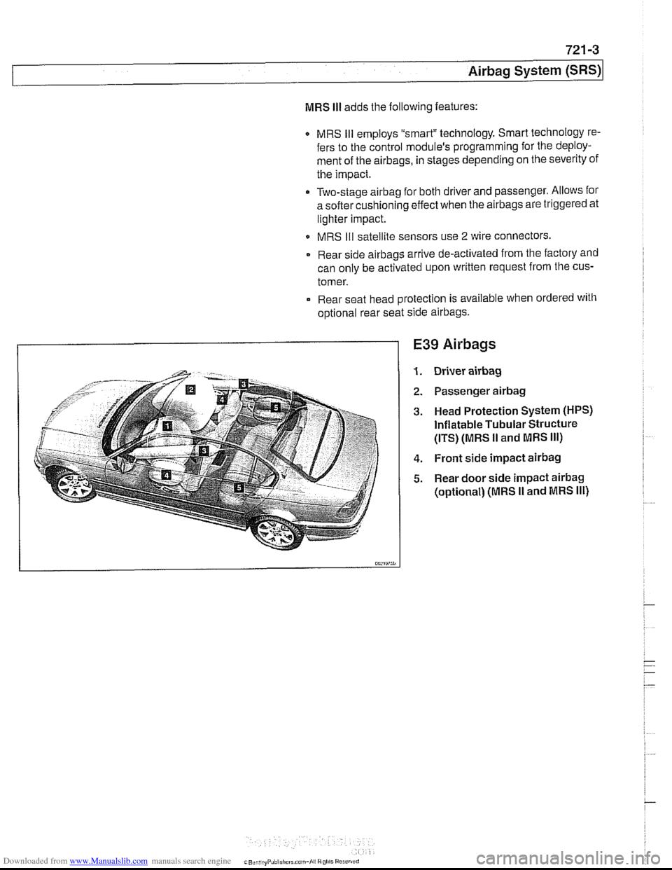 airbag bmw 540i 1998 e39 workshop manual. Black Bedroom Furniture Sets. Home Design Ideas