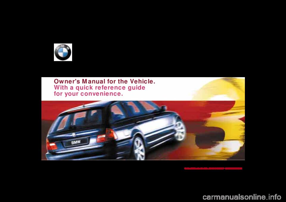 bmw 330i touring 2001 e46 owner s manual rh carmanualsonline info