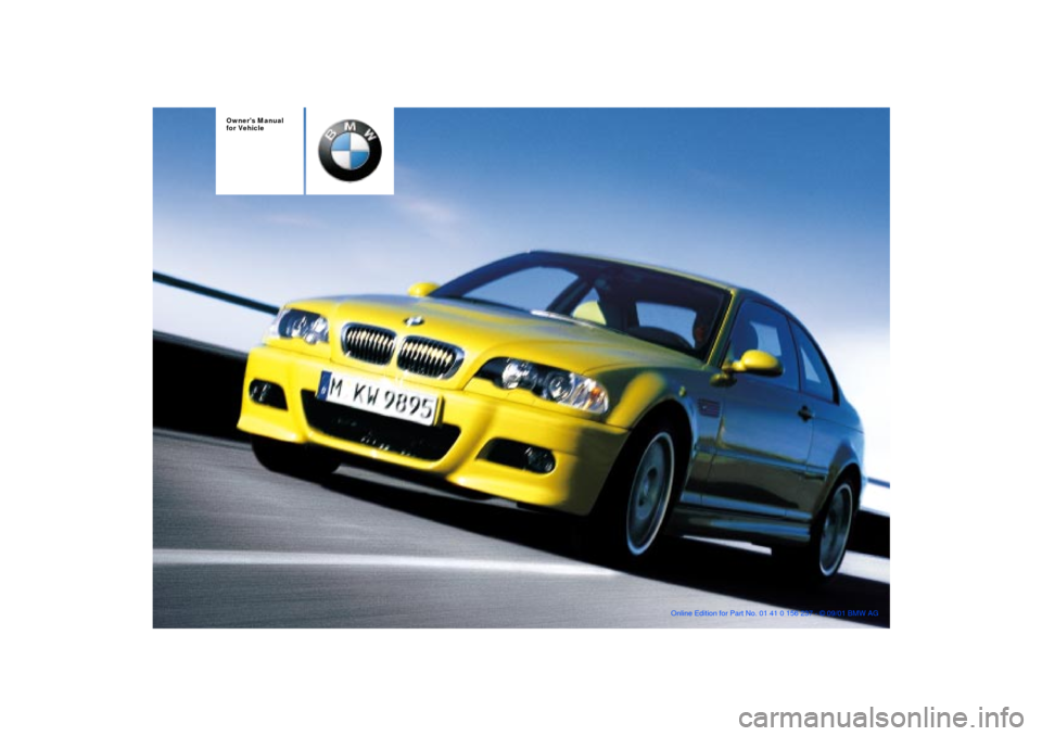 BMW M3 COUPE 2002 E46 Owners Manual, Page 1