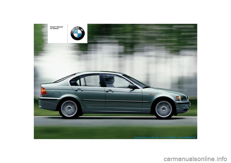 bmw 320i sedan 2003 e46 owner s manual rh carmanualsonline info