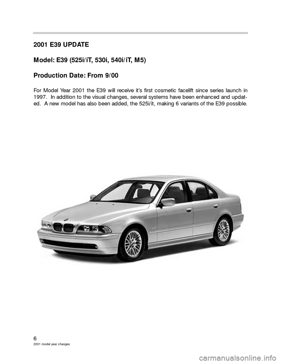 BMW 3 SERIES 2003 E46 Model Yar Changes, Page 6