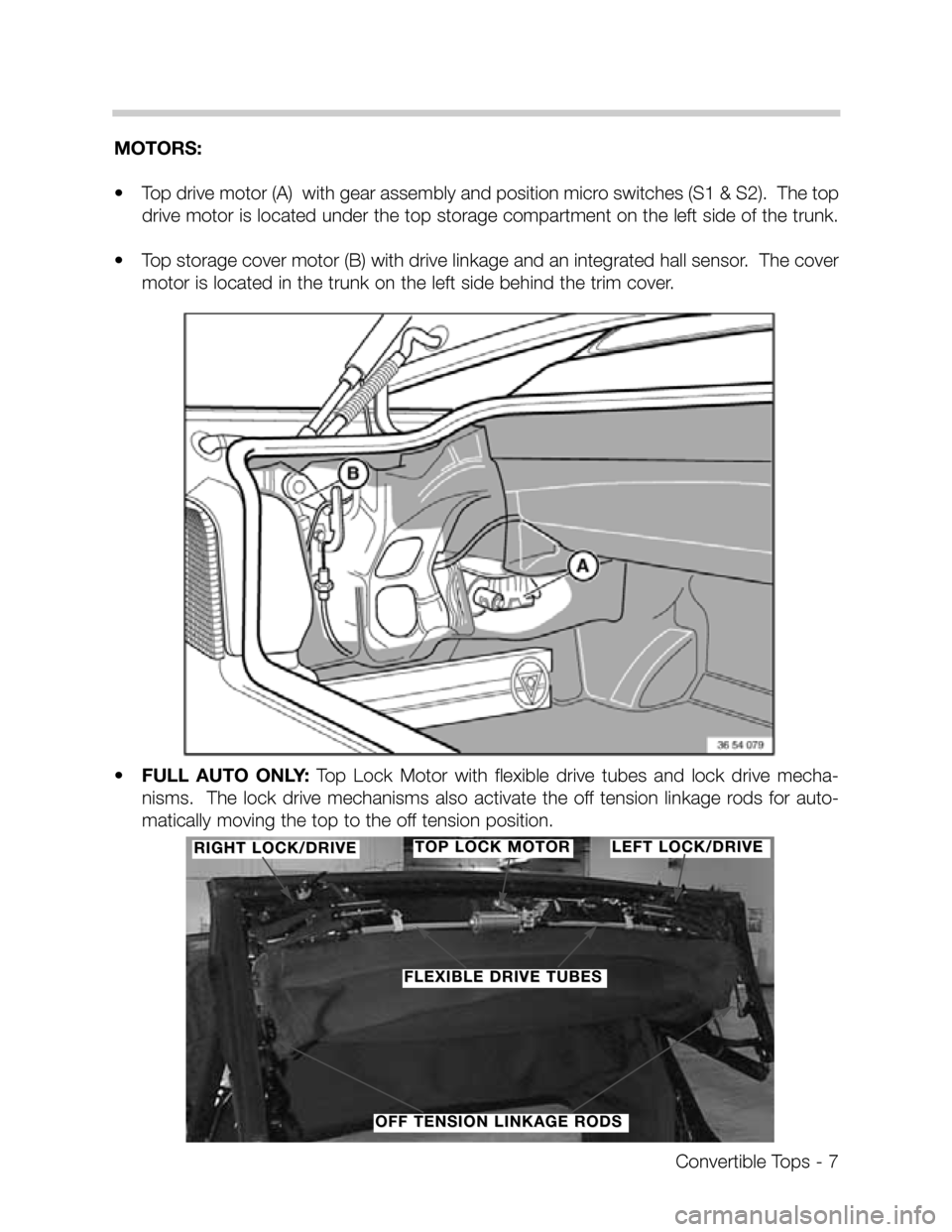 BMW Z3 CONVERTIBLE 1995 E36 Convertible Tops Manual, Page 7