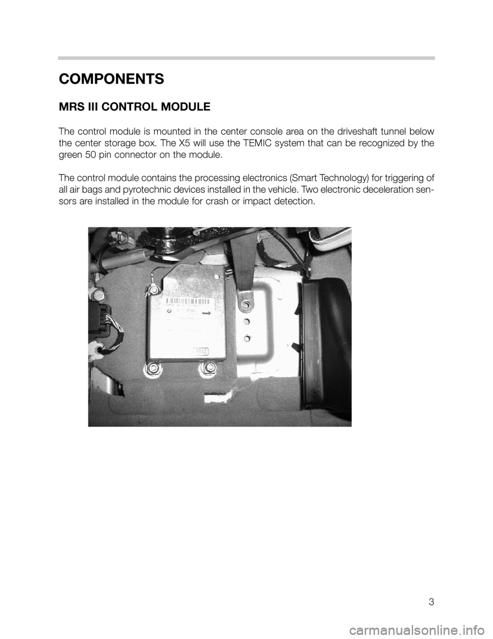 BMW 3 SERIES SEDAN 2003 E46 MRSIII Multiple Restraint System Manual, Page 3