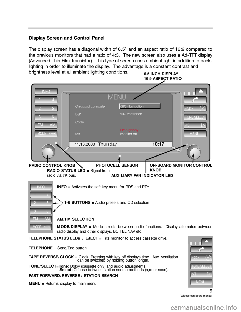 BMW 5 SERIES 2001 E39 Wide Screen On Board Monitor Workshop Manual, Page 5