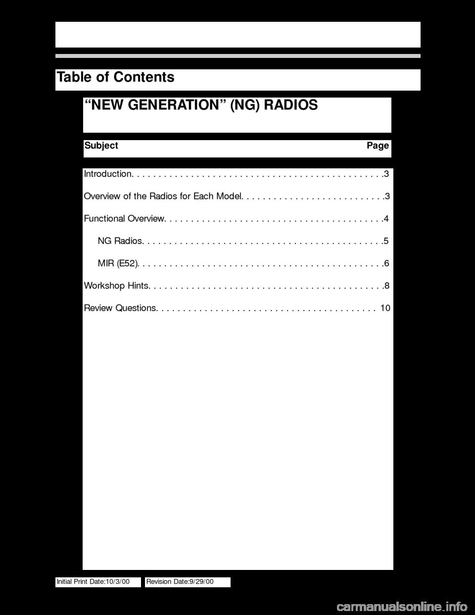 Bmw 3 Series 2005 E46 New Generation Radios Manual Light Control Module Wiring Diagram