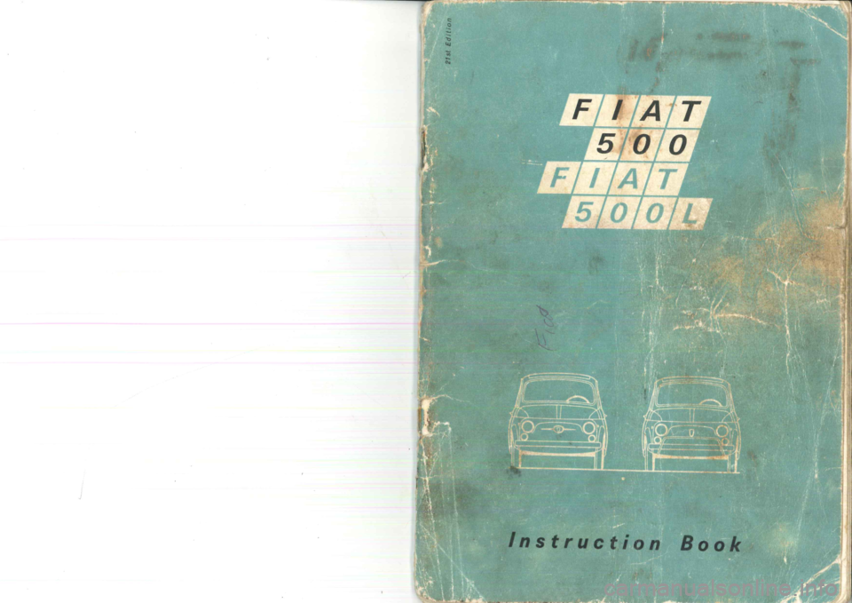 FIAT 500 1957 1.G Instruction Manual, Page 1