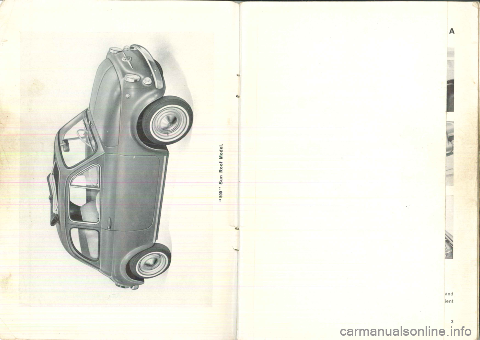 FIAT 500 1957 1.G Instruction Manual, Page 3