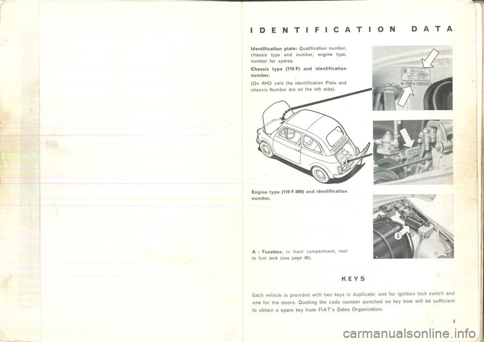 FIAT 500 1957 1.G Instruction Manual, Page 5