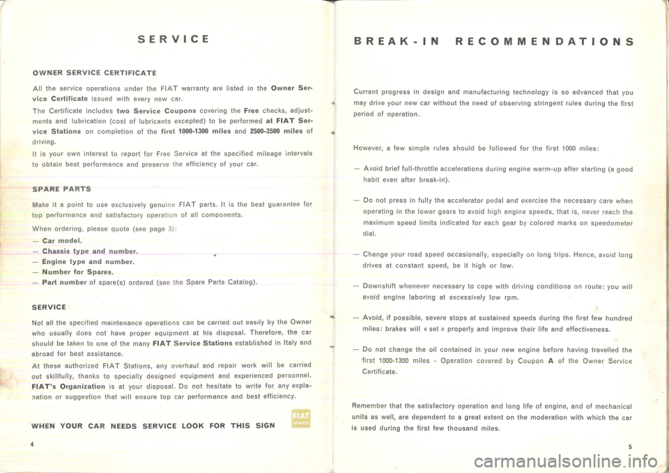FIAT 500 1957 1.G Instruction Manual, Page 6