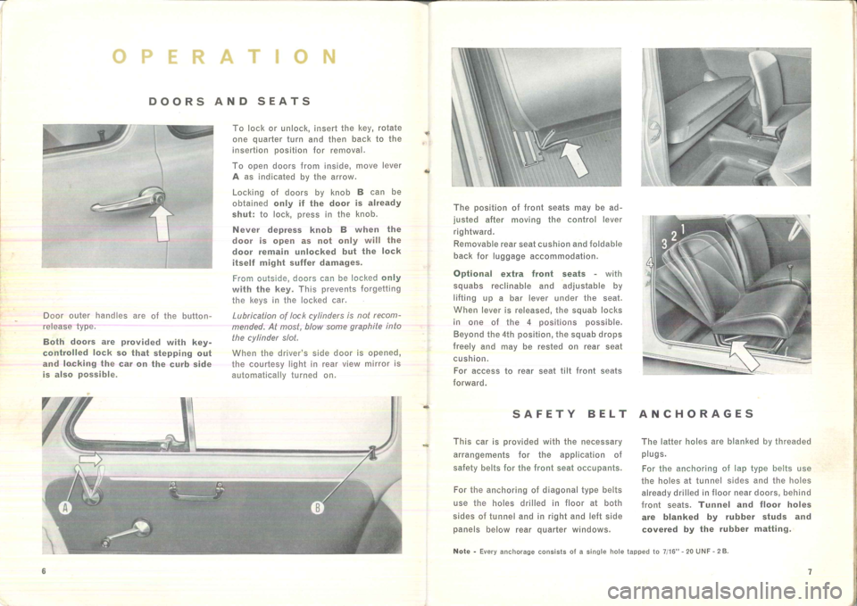 FIAT 500 1957 1.G Instruction Manual, Page 8