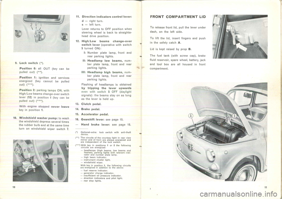 FIAT 500 1957 1.G Instruction Manual, Page 10