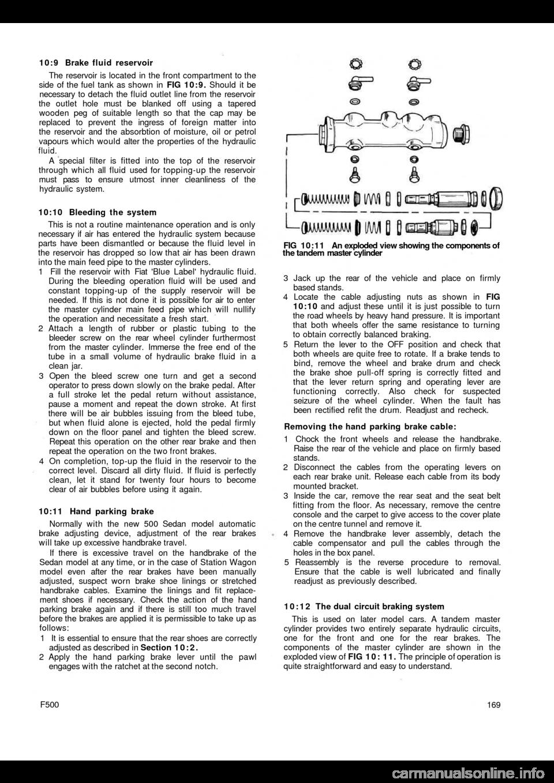 Brake Fluid Fiat 500 1962 1g Workshop Manual Exploded Diagram Of Drum Page 102
