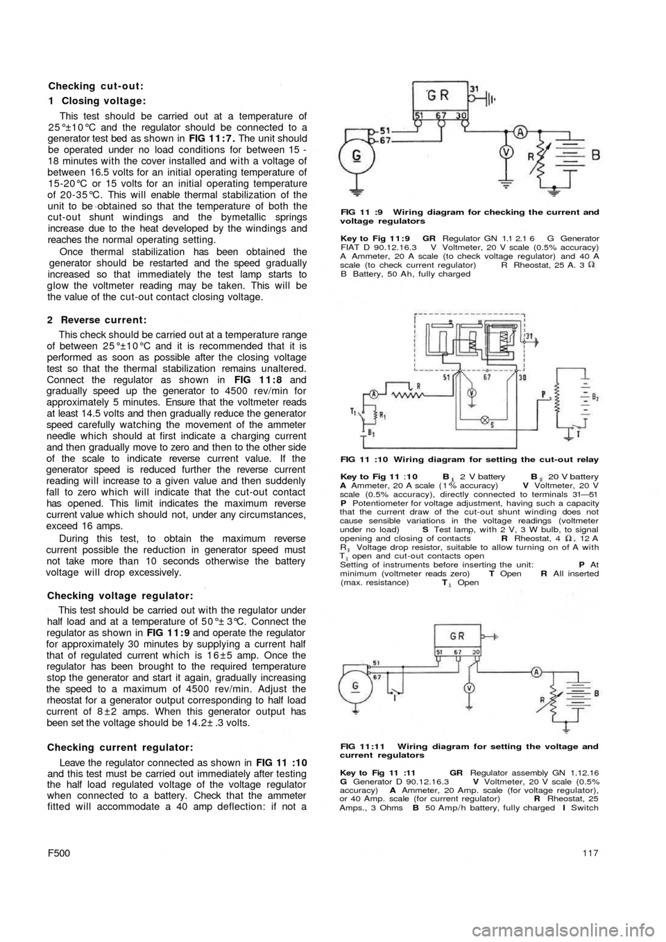 Fiat Abarth Wiring Diagram Library Diagrams For A H 50 11 Lift Master 500 1960 1 G Workshop Manual Rh Carmanualsonline Info