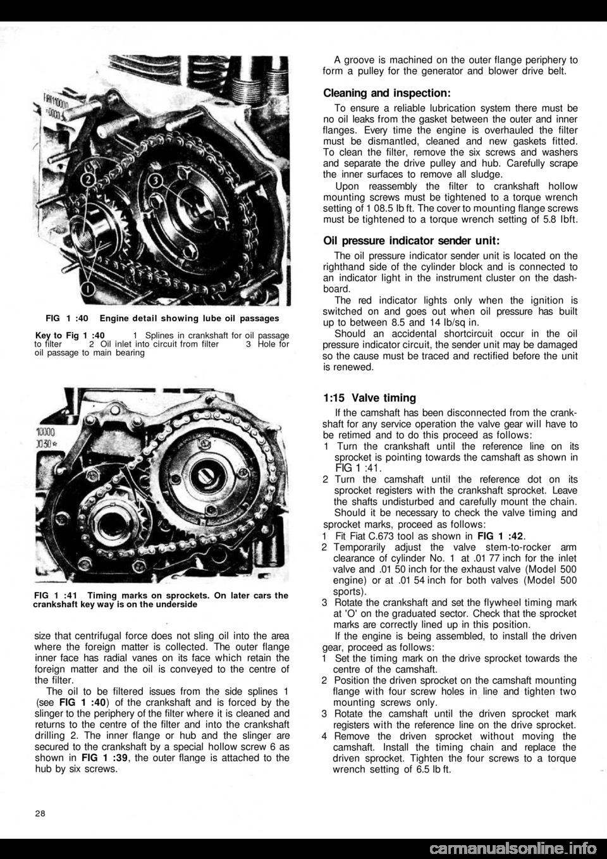 Fiat 500 1960 1g Workshop Manual Timing Belt