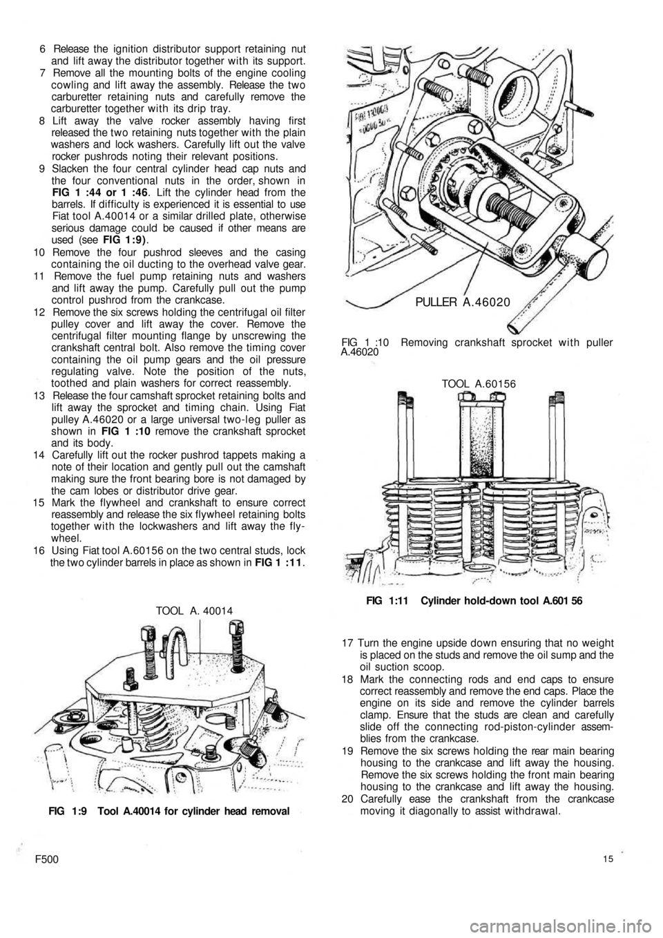 FIAT 500 1970 1.G Workshop Manual, Page 8